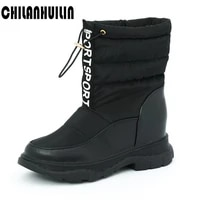 cotton boots woman winter snow boots flat platform shoes ankle boots for women non slip keep warm down wool women%e2%80%98s sneakers