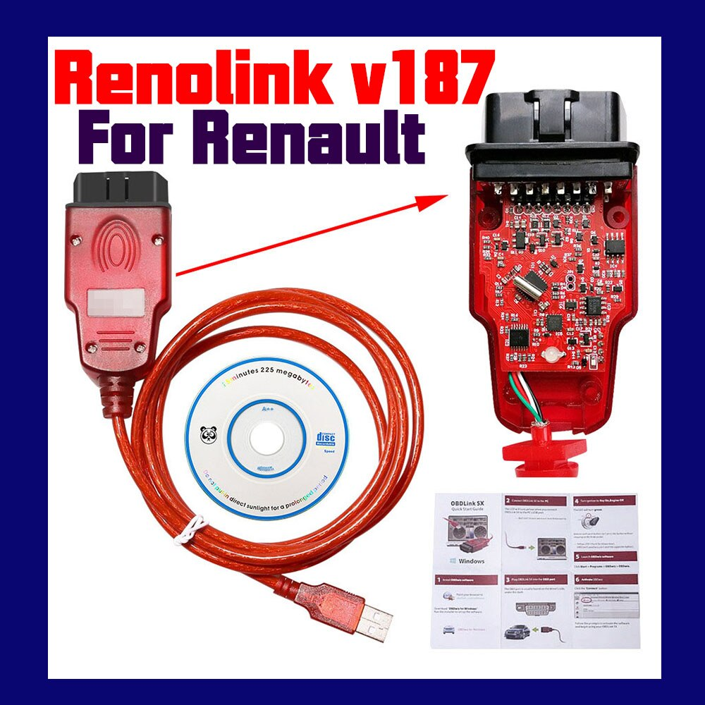 NEWEST Renolink V1.87 Renolink Key Coding UCH Matching Dashboard Coding ECU Resetting Functions