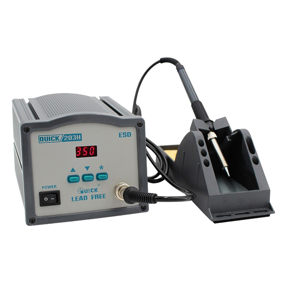 High Frequency Eddy Current Constant Temperature Digital Display Lead Free Soldering Station Electric Iron QUICK-203H 90W adjustable temperature welding station quick ts1100 90w electric soldering iron lcd digital display lead free station