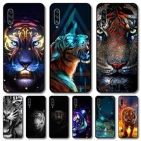 tiger phone case for samsung galaxy a 12 51 52 21 71 70 42 32 10 80 90 e 5g s black shell art cell cover