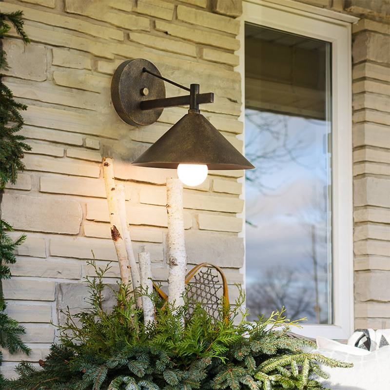 ASCELINA الأمريكية الرجعية في الهواء الطلق الجدار مصباح Vintage مصابيح الحائط الخارجي الجدار مخروط مقاوم للماء فناء شرفة الممر أضواء الجدار