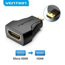 Vention Micro HDMI Adapter 1080P Micro HDMIชายไปHDMI ConverterหญิงประเภทDถึงHDMIอะแดปเตอร์สำหรับPS4กล้องHDTV Mini HDMI