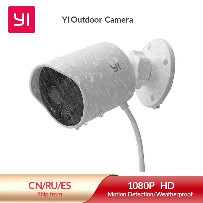 aliexpress.com - YI outdoor security camera 1080p cloud storage wifi 2.4G IP cam weatherproof infrared night vision motion detection home Cameras