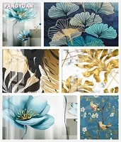 full drill 5d diy diamond painting flowers blue gold ginkgo leaf cross stitch diamond embroidery mosaic home decor accessories