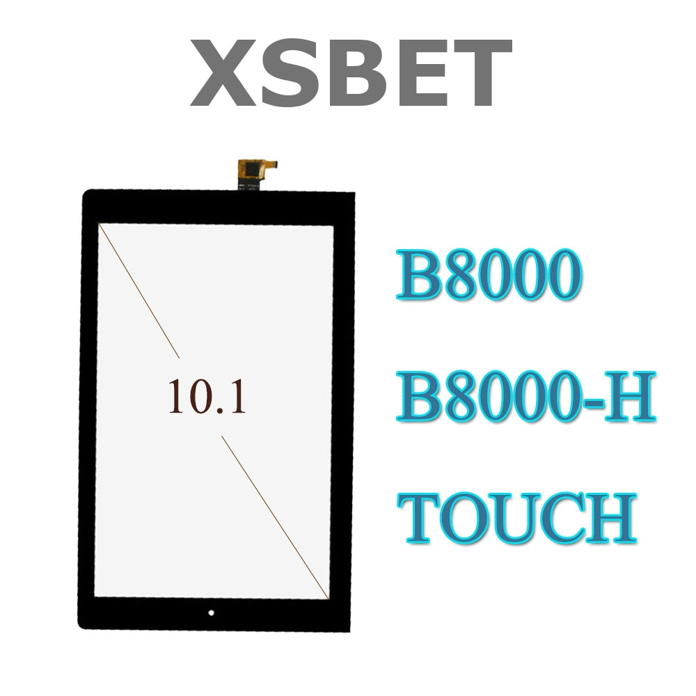 "Para Lenovo Yoga Tablet 10 B8000 B8000-H negro 10,1 ""Pantalla táctil digitalizador cristal reemplazo"