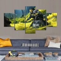 no framed canvas 5pcs apex legends bloodhound fps game wall art hd posters home decor pictures living room decoration paintings