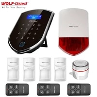 Wolf-Guard 3G Wifi sans fil alarme a la maison systeme de securite antivol bricolage maison Kit de securite avec 110dB sirene PIR detecteur capteur de porte