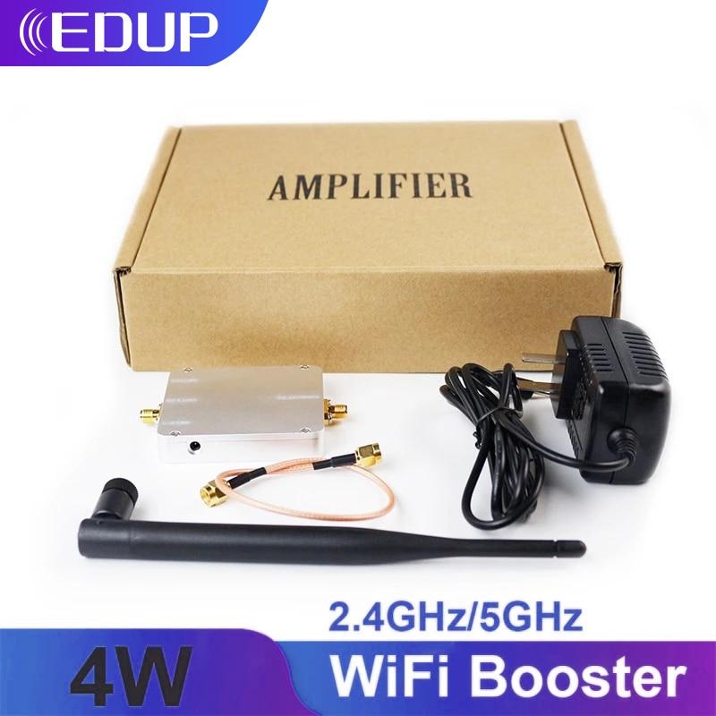 EDUP 5GHz/2.4GHz 4 واط مُعزز إشارة Wifi مكرر لاسلكي النطاق العريض مكبر للصوت ل موزع إنترنت واي فاي اكسسوارات المدى موسع محول