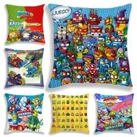 superzings series 6 pillow case no pillow insert super zings cartoon kids children cute bedroom decorate gift 45cm