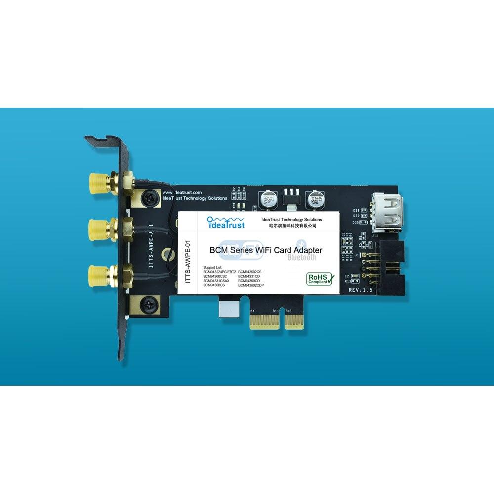 placa de rede sem fio wi fi bluetooth 24 mbps 5g 1300mbps compativel com mac os hackintosh