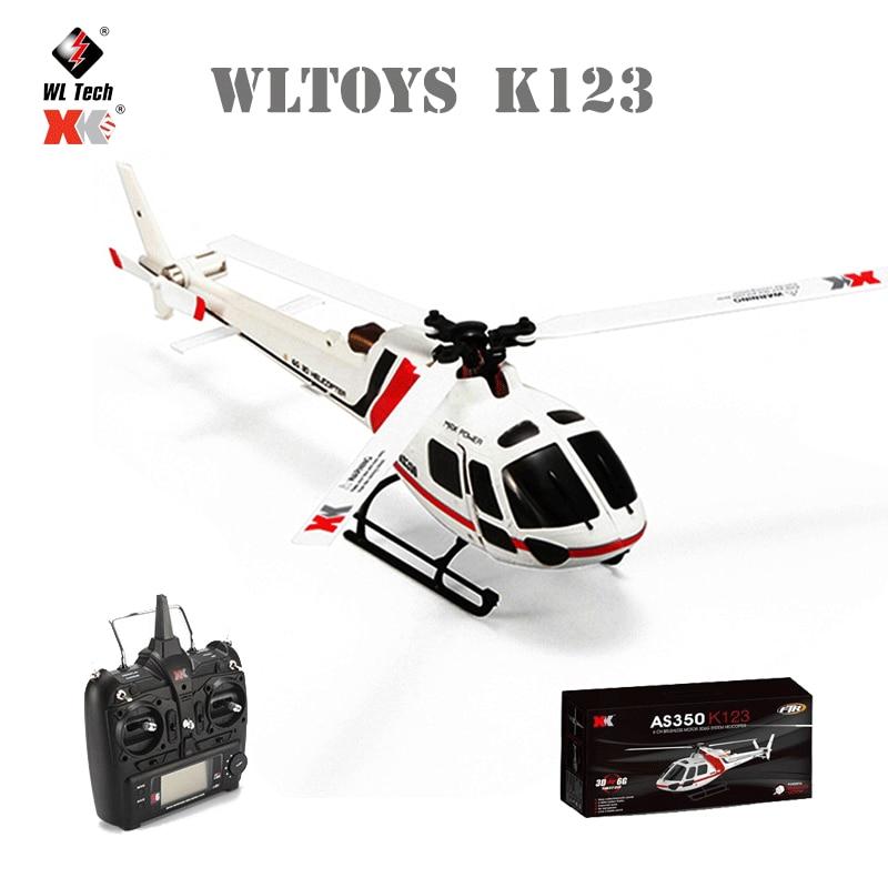 الأصلي WLtoys XK K123 RC طائرة صغيرة بدون طيار RTF 2.4G 6CH ثلاثية الأبعاد 6G وسائط فرش السيارات أجهزة الاستقبال عن بعد ألعاب هليكوبتر للأطفال الهدايا