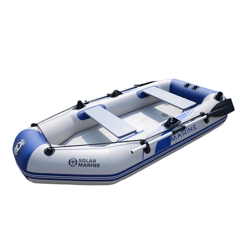 Bote inflable de 260cm para 3 personas, bote de PVC para remos, Kayak, canoa, bote de pesca, pesca, buceo, tablero de barco, suelo de aire de alta calidad