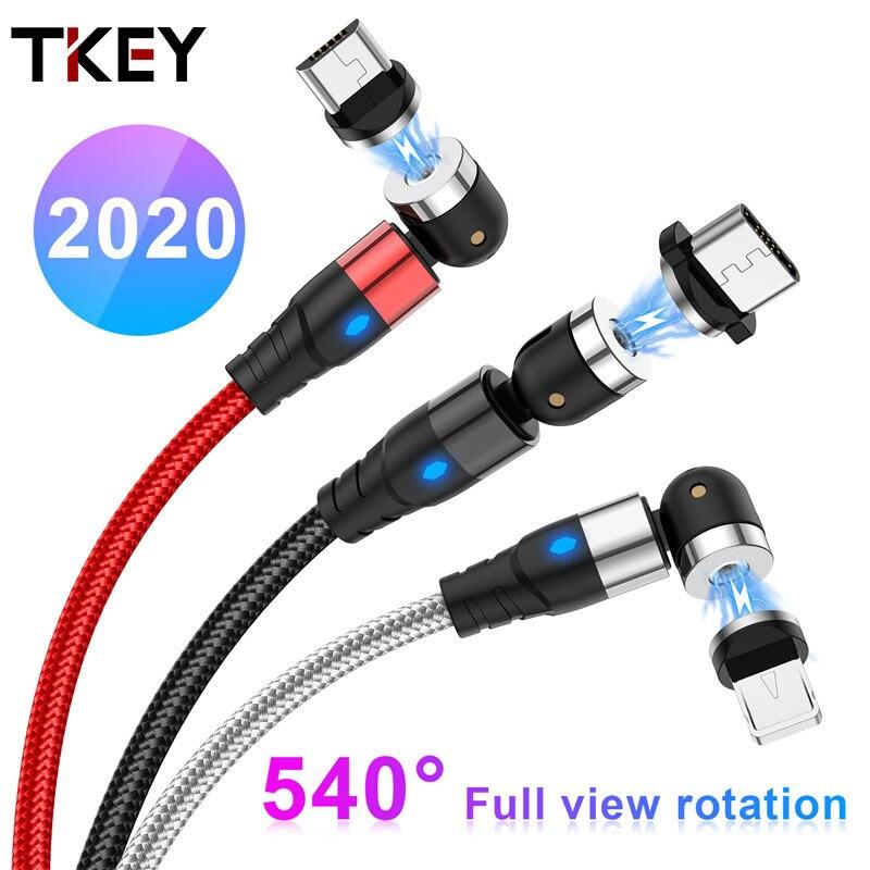 TKEY LED magnético Cable usb de carga rápida tipo C cargador magnético...