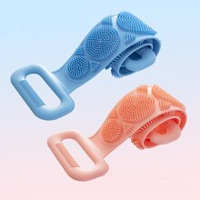 NEW Silicone Brushes Bath Towels Body Brush Bath Belt Exfoliating Back Brush Belt Wash Skin Househol