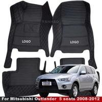 car floor mats for mitsubishi outlander 5 seats 2008 2009 2010 2011 2012 custom carpets auto interior accessories covers rugs