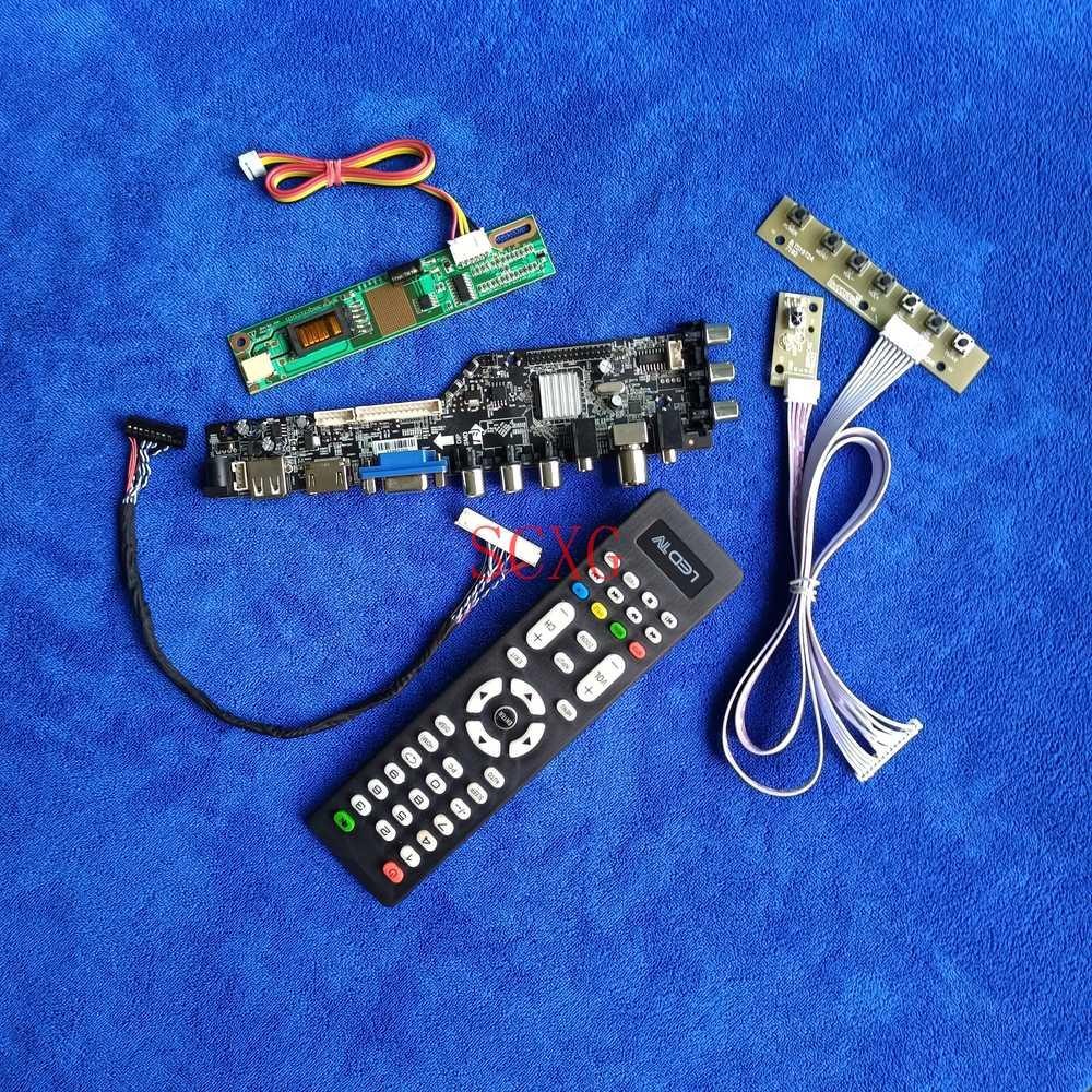 DVB إشارة 1CCFL شاشة LCD محرك مجلس صالح TX38D81VC1CAA/TX38D81VC1CAB/D HDMI-متوافق VGA AV USB لتقوم بها بنفسك عدة LVDS-30Pin 1024*768