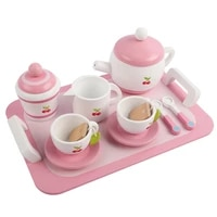 wooden childrens afternoon tea kitchen toy set play house simulation teapot tea set cake girl princess cooking toy kids gifts