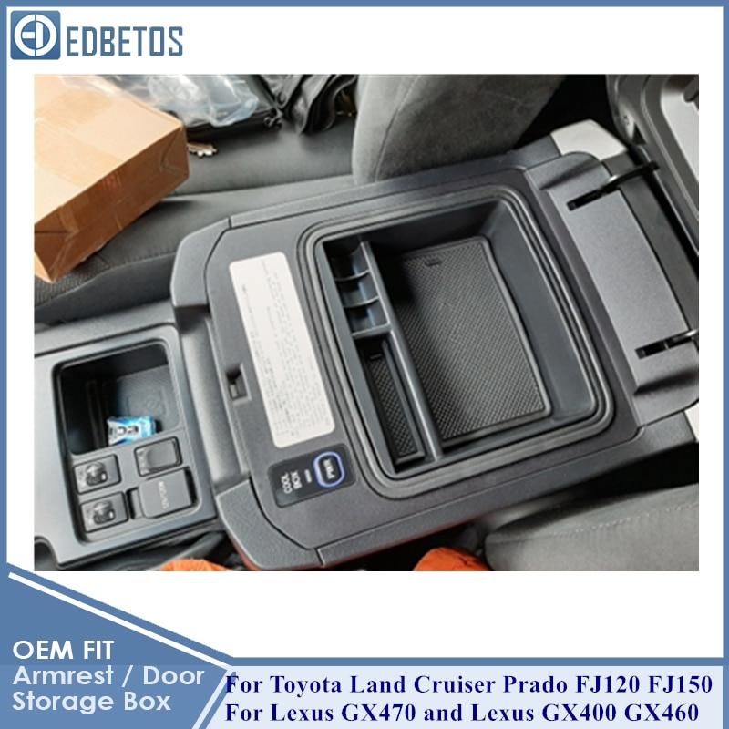 for Car Center Console Organizer Tray Armrest Storage Box for Toyota Land Cruiser Prado FJ 150 Lexus GX400 GX460 2004-2019 Accessori Storage Box