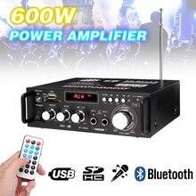 1 pièces 600w maison amplificateurs Audio Bluetooth Subwoofer FM SD Mini HIFI amplificateurs de puissance pour voiture Home cinéma système de son
