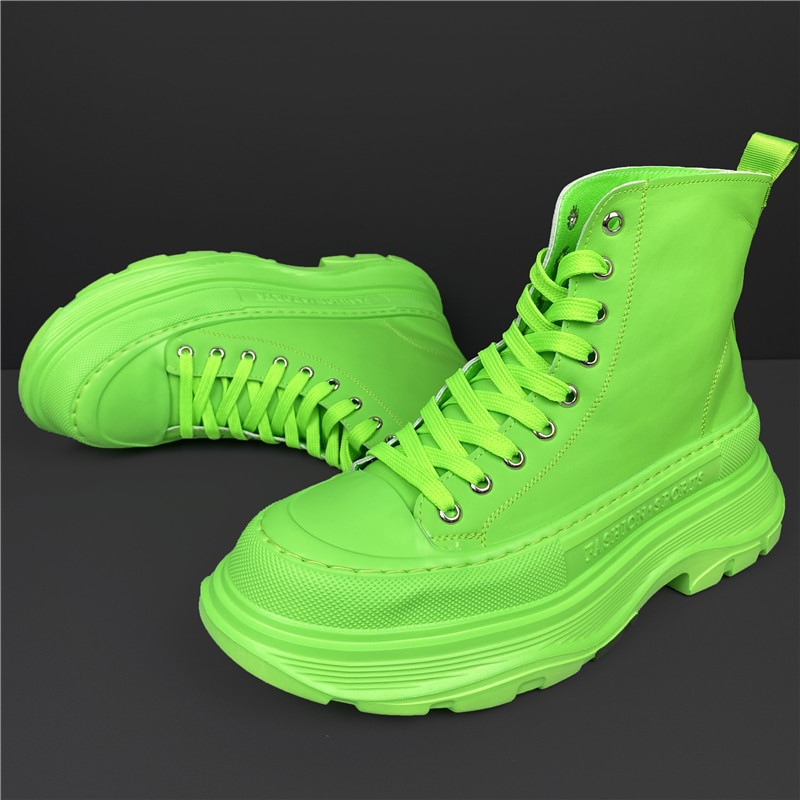 العلامة التجارية الرجال حذاء من الجلد جديد الرجال أحذية منصة الأحذية سميكة وحيد زيادة أحذية رياضية مكتنزة بو الجلود أحذية عالية الجودة