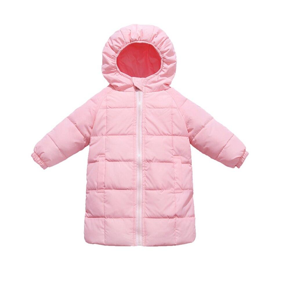 2020 outono inverno novas criancas jaqueta para baixo meados de comprimento engrossar