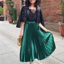 Mode femmes dame fille taille haute longue plissée jupe élégante soirée Club OL dames jupe femme dames Streetwear