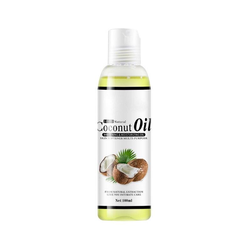 100% aceite de coco virgen orgánico Natural, masaje corporal y facial, el mejor producto para el cuidado masaje relajante de la piel, Control de aceite