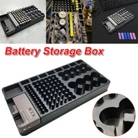 battery storage organizer case with removable tester holds 110 batteries various sizes for aaa aa 9v c d and button battery