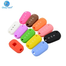 OkeyTech 3 Button Silicone Rubber Car Key Case for Peugeot 3008 208 308 508 408 2008 Protector Cover