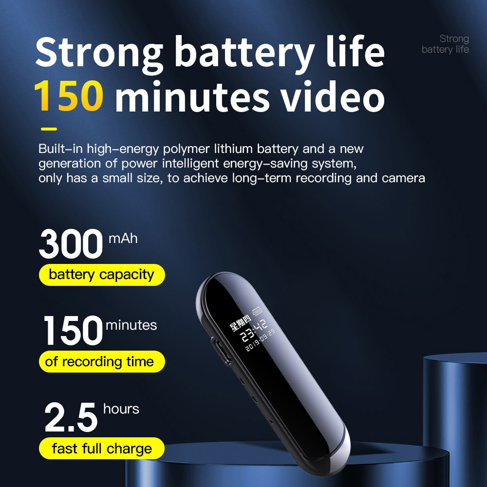 2021 NEW V8 Voice Recorder Audio and Video Sync Camera Pen Ai Smart High-definition Video Noise Reduction Portable Video Pen enlarge
