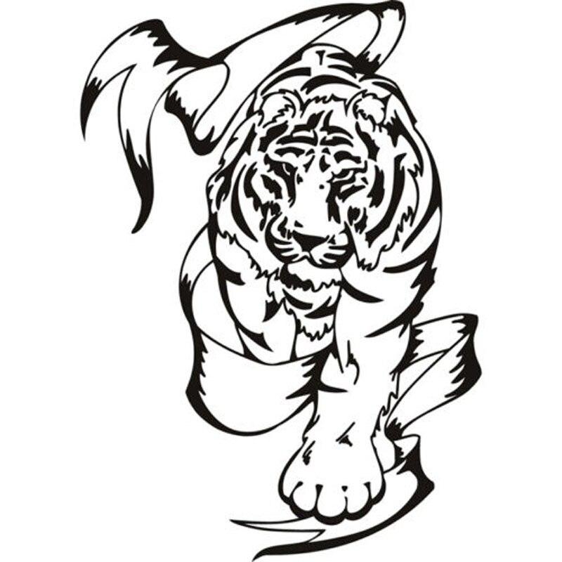 Фотообои с изображением тигра и баннера диких охотников, виниловые фотообои с изображением животных 14, 3 х20 см