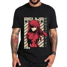 Anime Rei Ayanami Evangelion Casual T ชายเสื้อใหม่สีดำลำลองแขนสั้น Tshirt มังงะพิมพ์ Unisex เสื้อยืด Tees