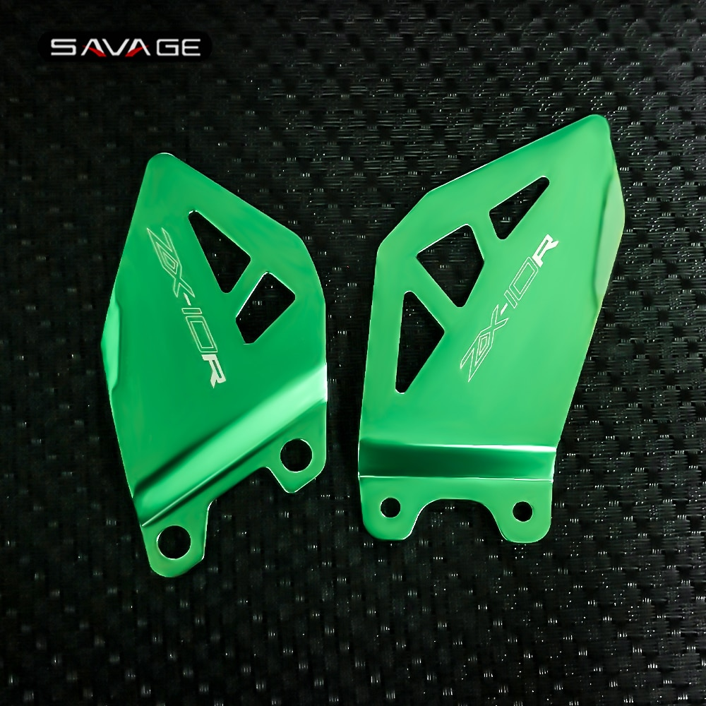 القدم ربط كعب لوحات الحرس لكاواساكي ZX10R ZX10RR 2011-2020 19 18 دراجة نارية ZX-10R مسند القدم شماعات دواسة حامي ZX-10RR