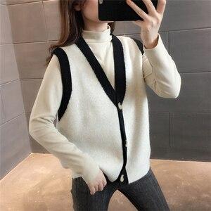 Room 209386, 7 on all 3 】 make v-neck color matching sleeveless vest vest [1133] 44