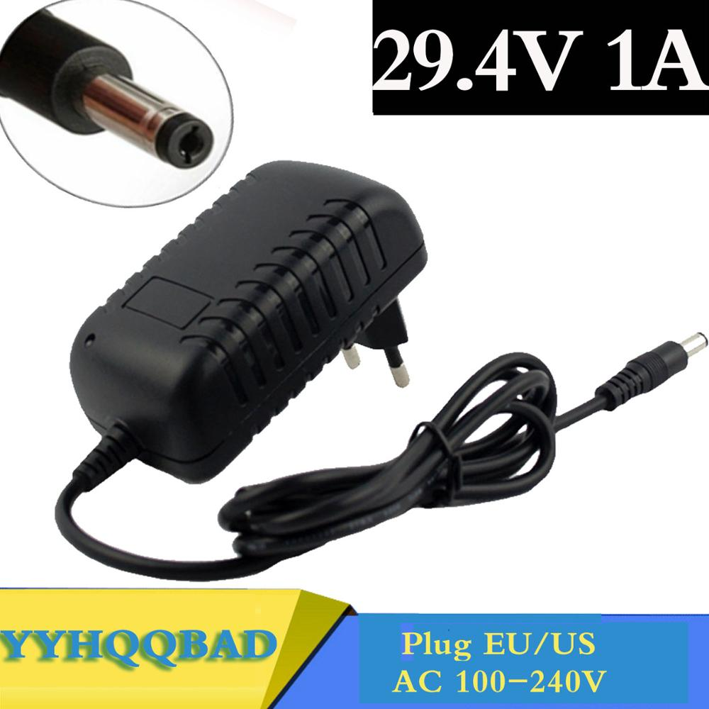 29.4V 1A polymer lithium Battery Charger AC100-240V DC 5.5MM*2.1MM Portable Charger EU/AU/US/UK Plug free shipping ce focusable 0 5x microscope camera eyepiece adaptor with 23 2mm interface