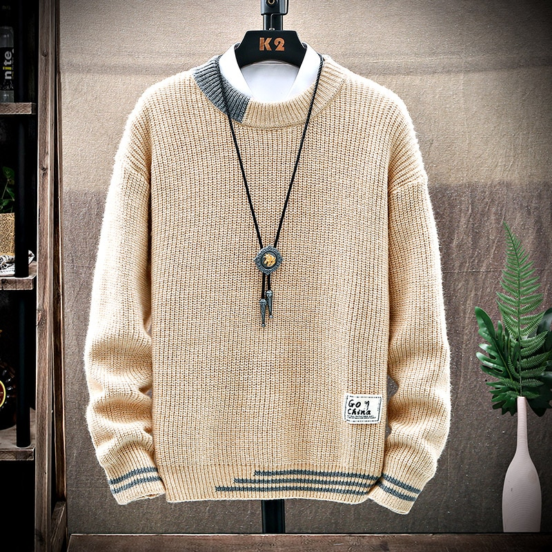 Autumn Winter New Brand Thick Sweater Men High Quality Classic Pullover Men Clothes Soft Warm Pull Homme 2020 Knitted Jumpers