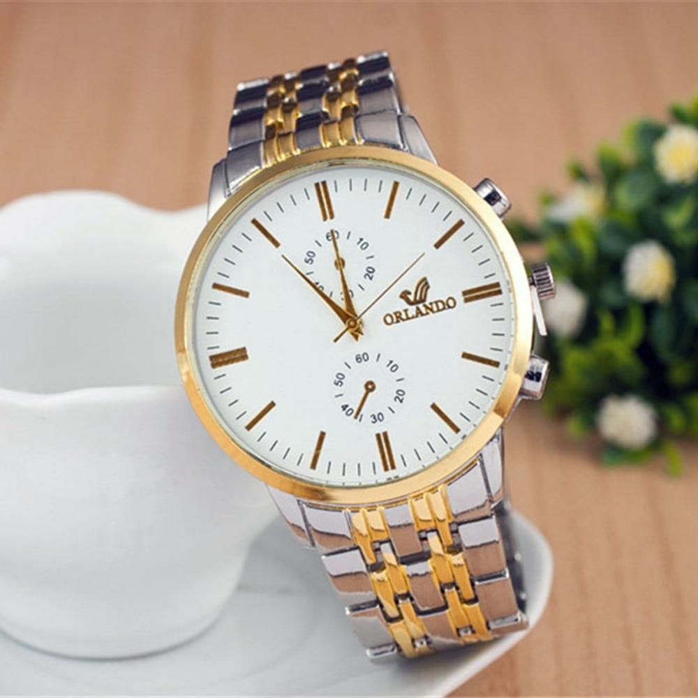 Men's business watch alloy quartz watch