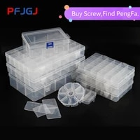 peng fa transparent pp plastic box removable classification finishing parts box packaging components box jewelry receiving box