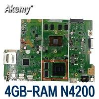 akemy x441nc motherboard for asus x441nc x441n f441n a441n original mainboard n4200 4g ram gt810m