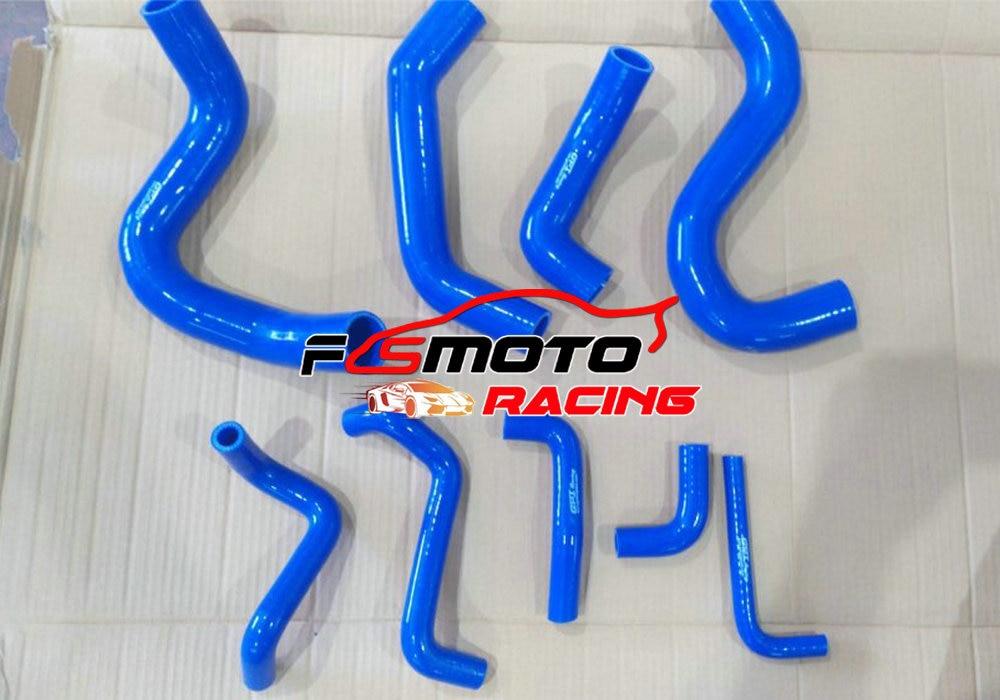 Azul 9 pçs silicone mangueira do radiador para nissan safari patrol y60 gq 2.8l rd28t turbo diesel 1994   1997 1995 1996 Mangueiras e grampos    -