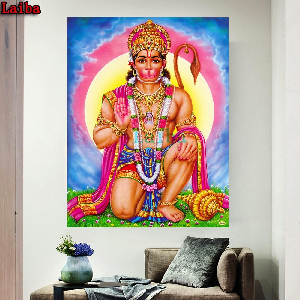 DIY bordado de diamantes religioso mono Dios arte punto de cruz kits pintura al óleo abstracta resina Hobby rhinestone decoración del hogar rompecabezas
