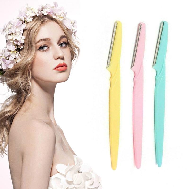 Portable Eyebrow Trimmer Eyebrow Knife Women Makeup Facial Tool Eyebrow Lip Razor Trimmer Blade Shav