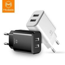 MCDODO 빠른 2 포트 아이폰 xs에 대 한 USB 휴대 전화 충전기 삼성 휴대용 범용 빠른 충전 USB 벽 여행 어댑터 EU