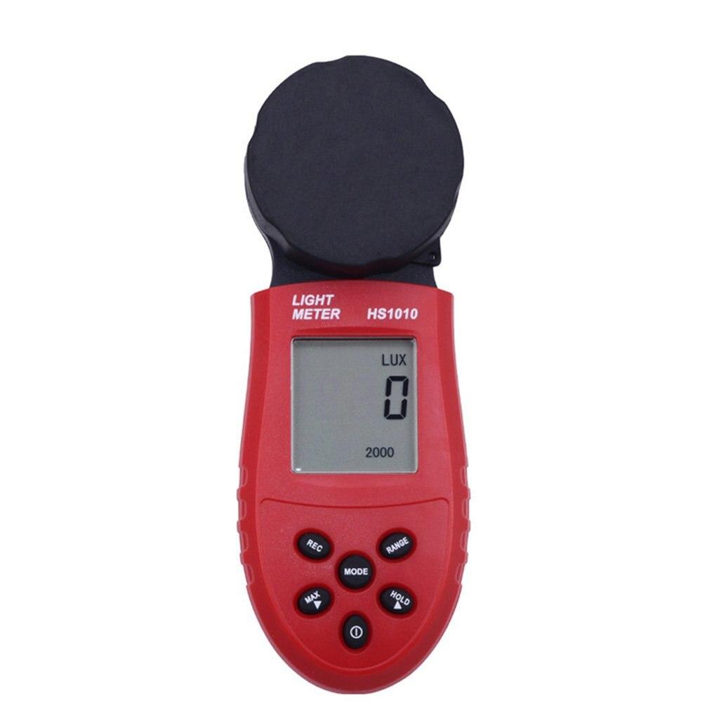 Hs1010 luxmeter digital display lcd medidor de luz teste ambiental sensor iluminômetro grande fotômetro