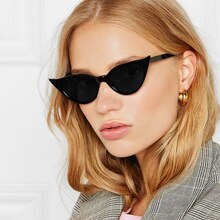 Vintage Cat Eye Sunglasses Women 2020 Luxury Brand Designer Gradient Sun Glasses For Woman Vintage B