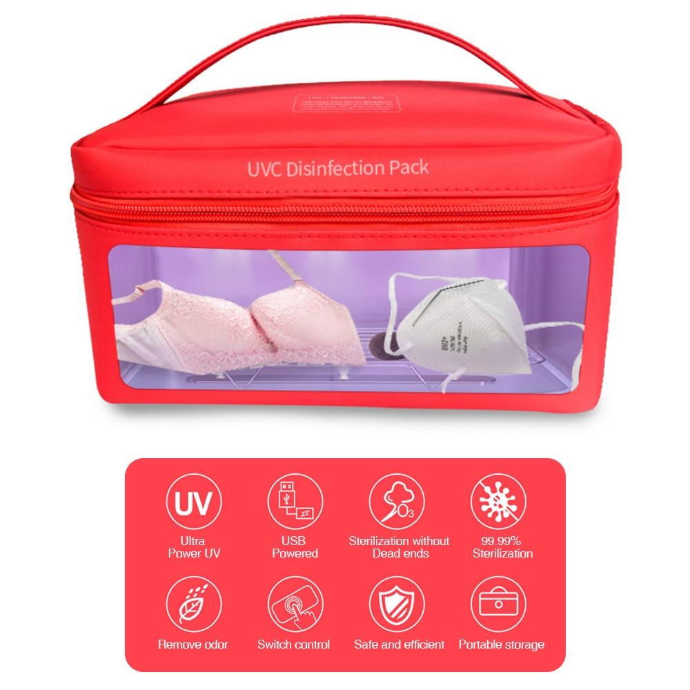 Luz uv portátil led carry caso usb multi-purpose desinfetar saco caixa de telefone celular