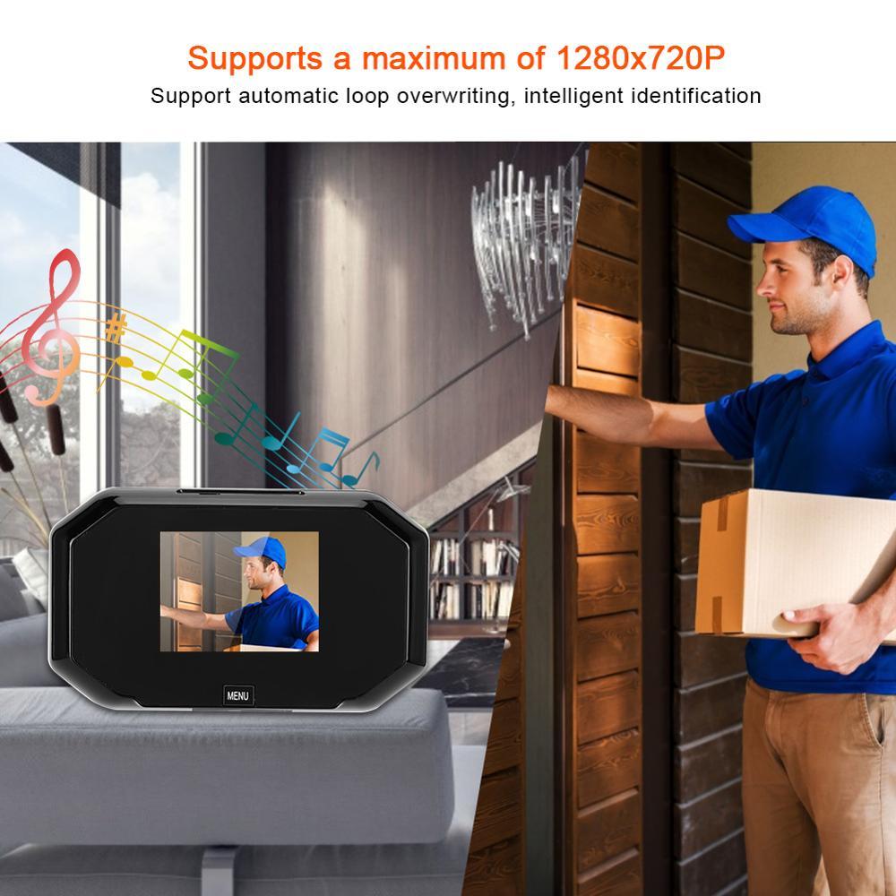 3 inch 720P Door Peephole Smart Digital Door Viewer HD Screen Display Doorbell Security Video Camera enlarge