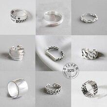 Anelli di barretta aperti di disegno degli anelli aperti della lettera Punk del metallo di colore d'argento dell'annata per la lettera dei regali dei gioielli del partito degli uomini delle donne