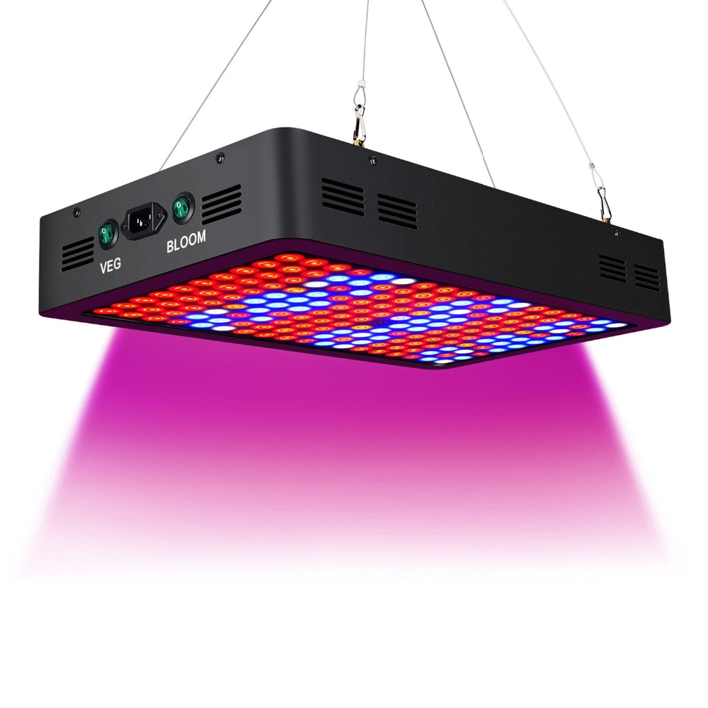 Double Switch 1800W Full Spectrum LED grow light with Veg/Bloom modes for Indoor Greenhouse grow tent plants grow led enlarge