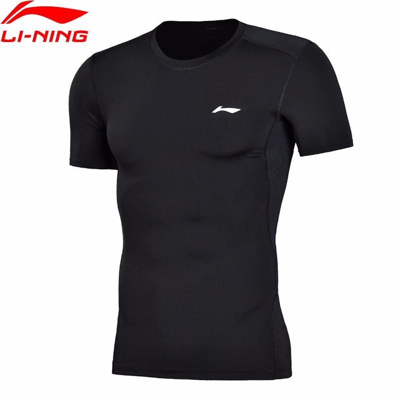 Camiseta de entrenamiento li-ning para hombres, camiseta de el profesional, capa ajustada, secado rápido, forro transpirable, Li Ning, camisetas deportivas, camisetas AUDN015 MTS2712